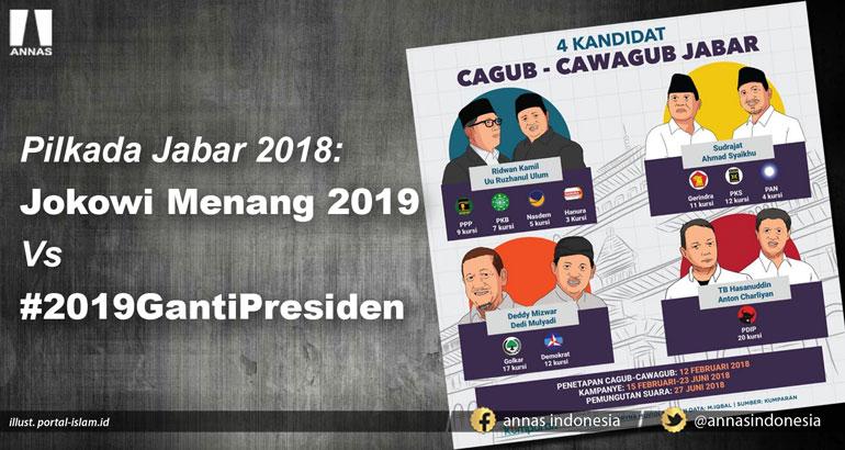 PILKADA JABAR 2018 : Jokowi Menang 2019 Vs #2019GantiPresiden
