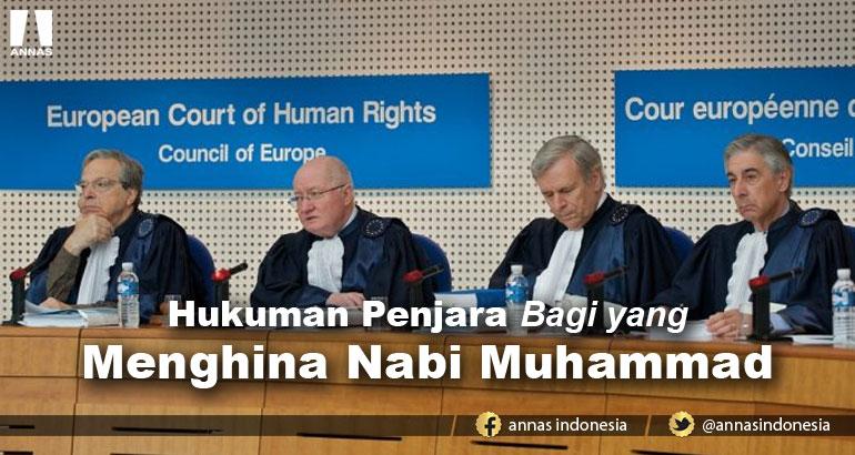 Pengadilan HAM Eropa Tetapkan Hukuman Penjara Bagi yang Menghina Nabi Muhammad