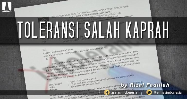 TOLERANSI SALAH KAPRAH