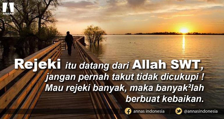 REJEKI ITU MILIK ALLAH