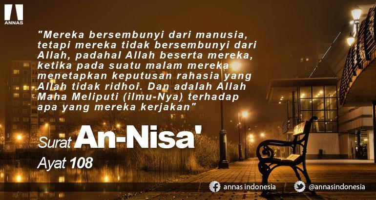 SURAT AN-NISA'  AYAT 108