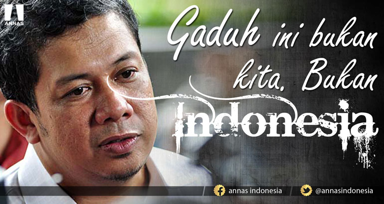 GADUH INI BUKAN KITA. BUKAN INDONESIA