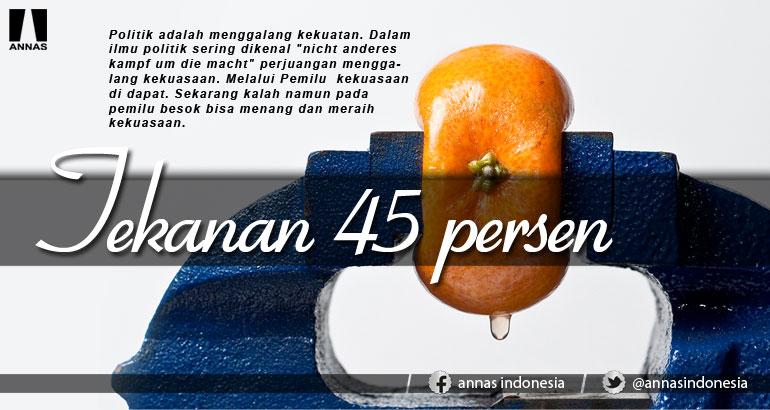 TEKANAN 45 PERSEN