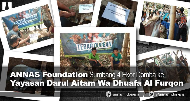 ANNAS Foundation Sumbang 4 Ekor Domba ke Yayasan Darul Aitam Wa Dhuafa Al Furqon