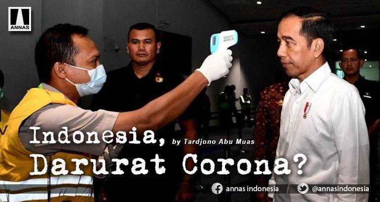 INDONESIA, DARURAT CORONA ?