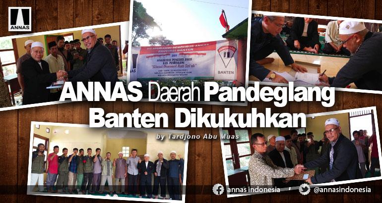 ANNAS Daerah Pandeglang Banten Dikukuhkan