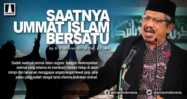 SAATNYA UMMAT ISLAM BERSATU