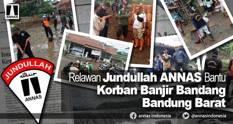 Relawan Jundullah ANNAS Bantu Korban Banjir Bandang Bandung Barat