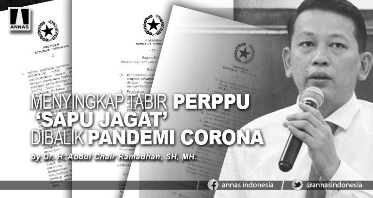 MENYINGKAP TABIR PERPPU 'SAPU JAGAT' DIBALIK PANDEMI CORONA