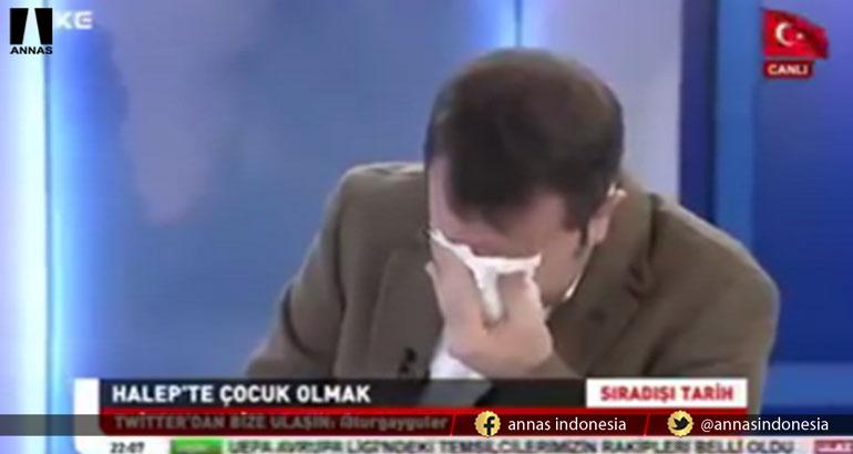ANAK SURIAH TAHAN SAKITNYA OPERASI SAMBIL MUROJAAH, HOST DAN NARASUMBER TURKI INI MENANGIS