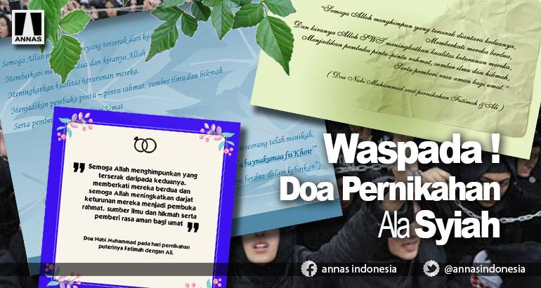 WASPADA !  Doa Pernikahan Ala Syiah