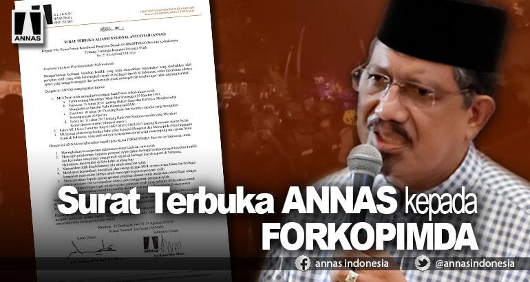 Surat Terbuka ANNAS kepada FORKOPIMDA