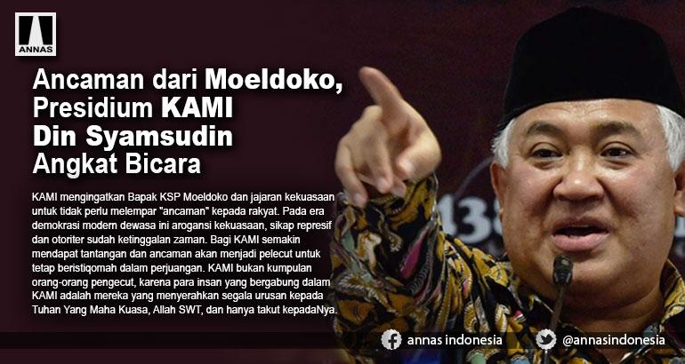 Ancaman dari Moeldoko, Presidium KAMI Din Syamsudin Angkat Bicara