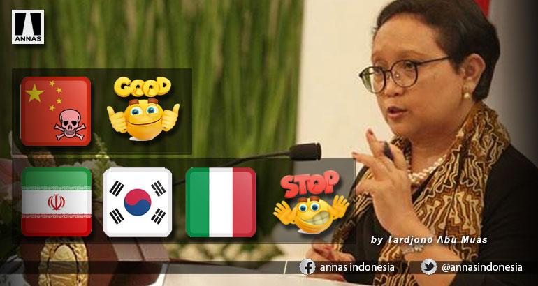 Iran, Korsel dan Itali Stop Masuk Indonesia, kalau China?
