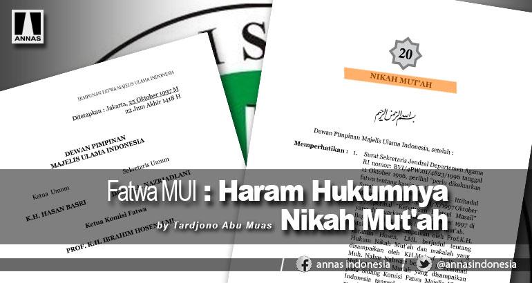 Fatwa MUI : HARAM HUKUMNYA NIKAH MUT'AH