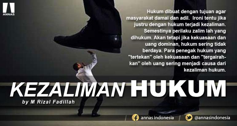 KEZALIMAN HUKUM