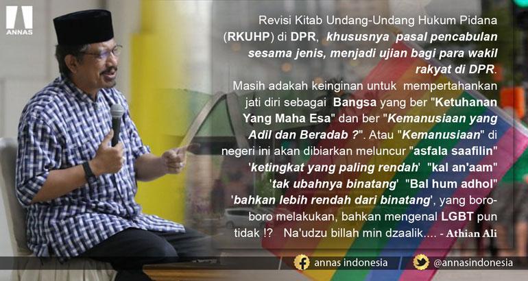 RKUHP pasal Pencabulan Sesama Jenis, menjadi Ujian bagi para wakil rakyat di DPR