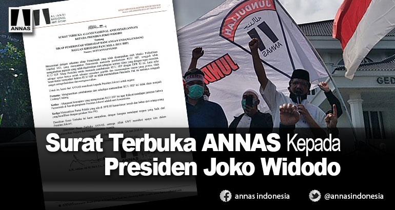 Surat Terbuka ANNAS Kepada Presiden Joko Widodo