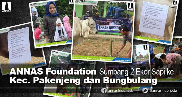 ANNAS Foundation Sumbang 2 Ekor Sapi ke Kec. Pakenjeng dan Bungbulang