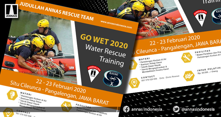 PELATIHAN DASAR WATER RESCUE  - JUNDULLAH ANNAS RESCUE TIM Program