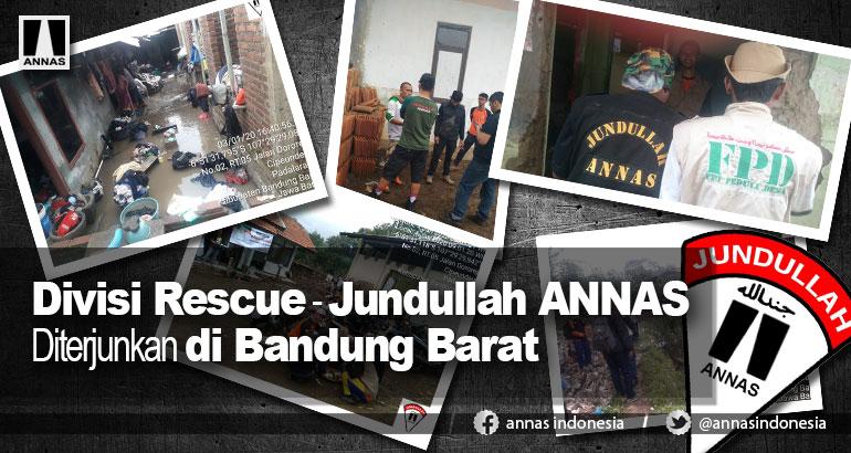 Divisi Rescue - Jundullah ANNAS Diterjunkan di Bandung Barat