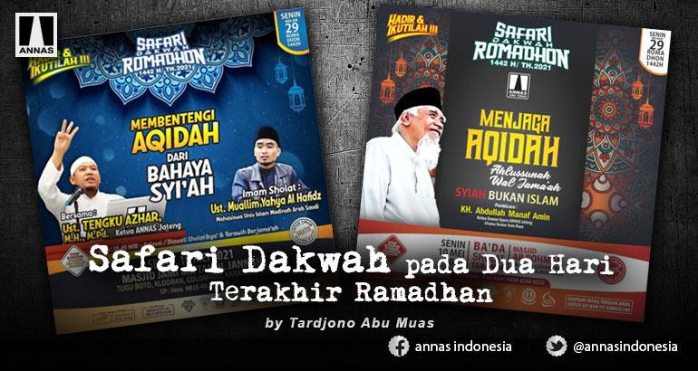 Safari Dakwah pada Dua Hari Terakhir Ramadhan