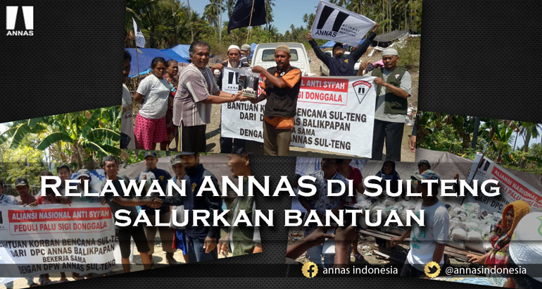 RELAWAN ANNAS DI SULTENG SALURKAN BANTUAN
