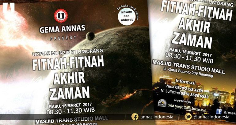 Fitnah Fitnah Akhir Zaman Annas Indonesia