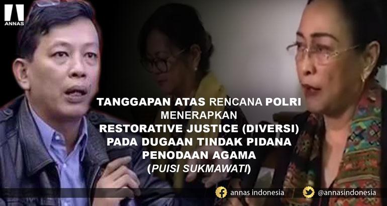 tanggapan atas rencana polri menerapkan restorative justice